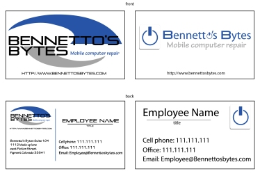 Bennetto's Bytes Logo and Business Card