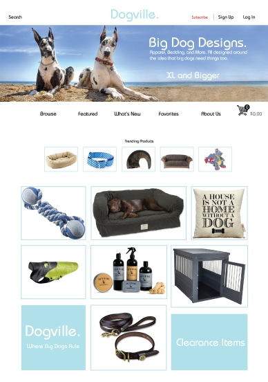 Dogville Landing Page